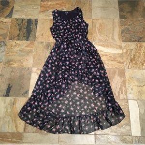 Long High-Low Floral Dress